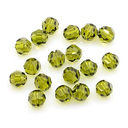 Austrian Crystal Beads, 8mm Faceted Round, Olive, hole: 1mm(X-5000_8mm228)