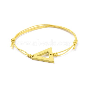 Yellow Waxed Cord Bracelets