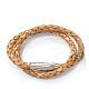 Double Wrap Braided Leather Bracelets(X-BJEW-N116-52B)-1