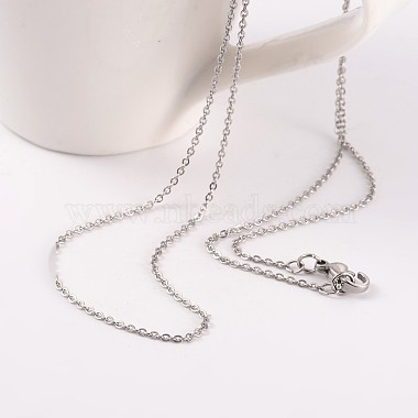 304 Stainless Steel Cable Chain Necklaces(NJEW-JN01526-02)-2