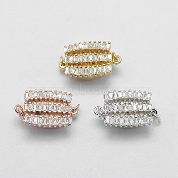 Mixed Color Clear Oval Sterling Silver Box Clasps