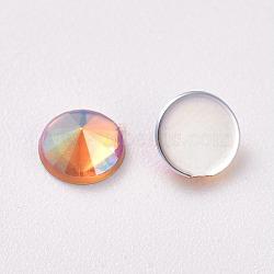 acrylique strass dos plat, ab couleur, cône, or, 4.5x2.5 mm; sur 100 PCs / sac(OACR-WH0003-05A-05)
