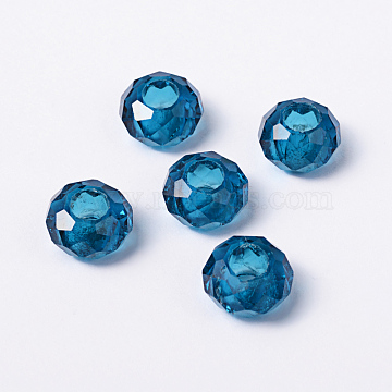 14mm Blue Rondelle Glass Beads