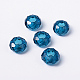 Blue Large Hole Glass European Rondelle Beads(X-GDA007-66)-1