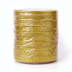 """Ruban de satin sparkle, avec des cordons métalliques dorés, cadeaux de la Saint-Valentin, or, 3/8"""" (8 mm); environ 25yards / rouleau (22.86m / rouleau), 10 rouleaux / groupe(RSC8mmY-020)"""