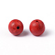 Dyed Red Round Synthetical Howlite Loose Beads(X-TURQ-G609-8mm)-2