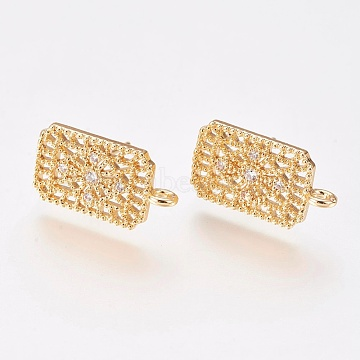Real Gold Plated Brass+Cubic Zirconia Stud Earrings