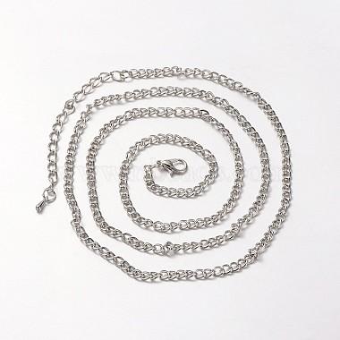 Iron Curb Chain Necklace Making(MAK-J004-10P)-2