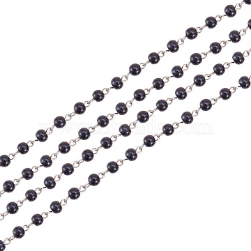 Black Iron+Glass Handmade Chains Chain