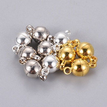 Mixed Color Round Brass Clasps