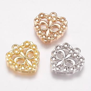 Mixed Color Heart Brass Pendants