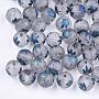 Steel Blue Round Glass Beads(EGLA-S178-01-01C)