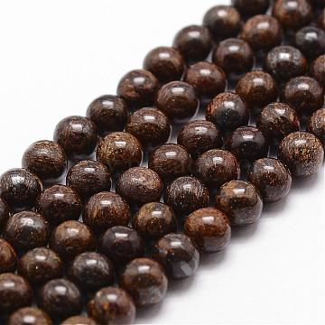 Natural Bronzite Bead Strands, Round, 6mm, Hole: 1mm, about 61pcs/strand, 14.9 inches~15.1 inches(G-D840-57-6mm)