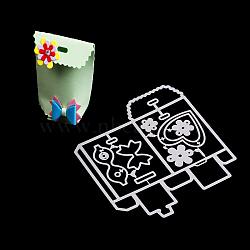 Cadre de sac en papier en acier au carbone meurt pochoirs, pour bricolage scrapbooking / album photo, carte de papier de bricolage décoratif, mat platine, 12x11.1x0.08 cm(DIY-F028-45)