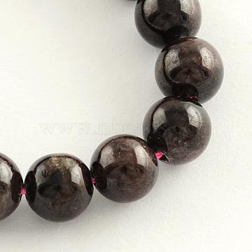 9mm Round Garnet Beads