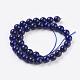Natural Lapis Lazuli Beads Strands(X-G-G087-6mm)-2