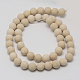 Natural Fossil Beads Strands(G-D694-8mm)-1