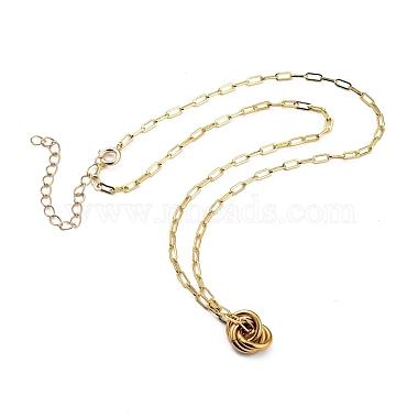 Love Knot Pendant Necklaces(NJEW-JN03007)-2
