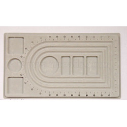 Panneaux en plastique de conception de perles, rectangle, grises , 23x41x1 cm(X-PD001)