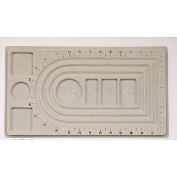 Gray Plastic Bead Design Boards