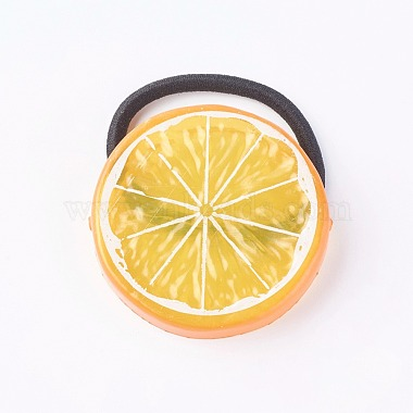 Orange Acrylic Hair Ties