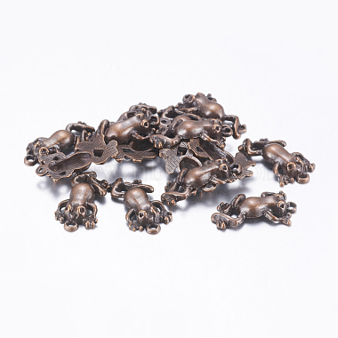 Red Copper Frog Alloy Pendants