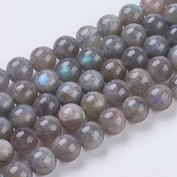 Natural Labradorite Beads Strands,  Round, 8mm, Hole: 1mm, about 47pcs/strand, 15.5 inches(X-G-G212-8mm-23)