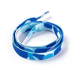 Polyester Cord Shoelace, DeepSkyBlue, 52~53.5cm; 9mm(AJEW-F036-01B-02)