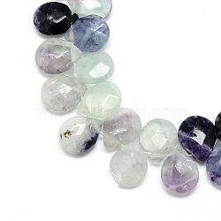 """Brins de perles de gemme violet naturel, facette, goutte , 12x9~10x6mm, trou: 1mm; environ 30 pcs/chapelet, 11.81""""(X-G-T006-04)"""