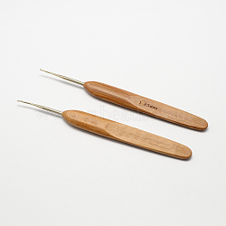Bambou poignée fer aiguilles crochet de crochet, Pérou, broche: 1.25 mm; 133~136x13x7 mm(X-TOOL-R034-1.25mm)
