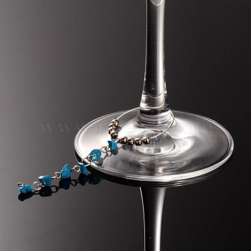 Synthetic Turquoise Wine Glass Charms