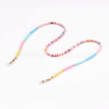 радуга из полимерной глины цепочки для очков хейши из бисера(AJEW-EH00316)-1