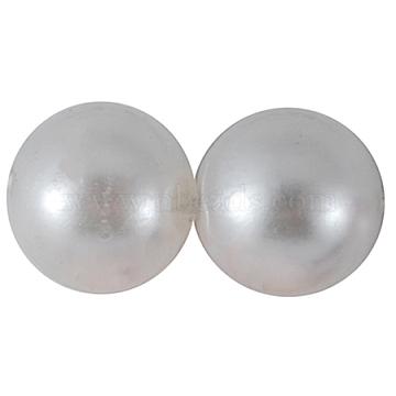 10mm Snow Round Acrylic Beads