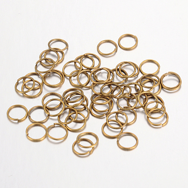 Iron Close but Unsoldered Jump Rings(X-IFIN-A018-6mm-AB-NF)-1