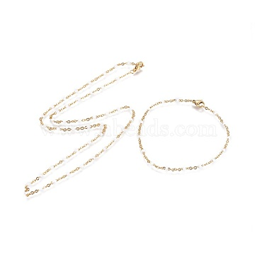 White Stainless Steel Bracelets & Necklaces