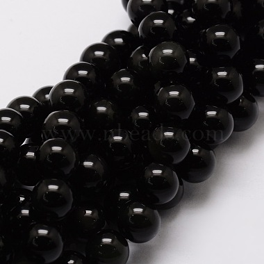 8mm Round Obsidian Beads