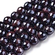 Electroplated Natural Tiger Eye Beads Strands(G-F660-02-8mm)-1