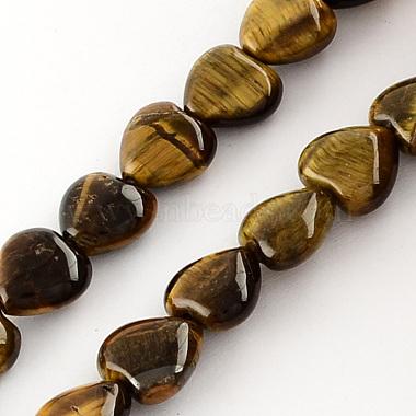 20mm Coffee Heart Tiger Eye Beads