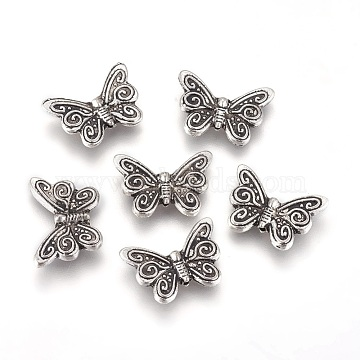 18mm Butterfly Alloy Beads