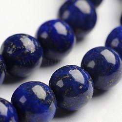 """Lapis lazuli pierres précieuses rondes naturelles brins de perles, teint, 6mm, trou: 1mm; environ 64 pcs/chapelet, 14.9""""(G-J333-05-6mm)"""