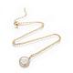 Brass Initial Pendant Necklaces(NJEW-I230-24G-X)-1