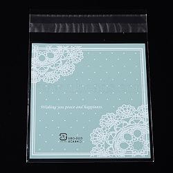 прямоугольник OPP сумки целлофановые, lightcyan, 13.6x9.7 см; односторонняя толщина: 0.035 мм; внутренняя мера: 10.5x9.7 см, о 95~100 шт / мешок