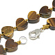 Natural Tiger Eye Beaded Necklaces(NJEW-S403-13)-2