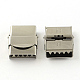 Smooth Surface 201 Stainless Steel Watch Band Clasps(X-STAS-R063-81)-1