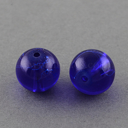 """Drawbench прозрачные стеклянные бусы нити, окрашеные, круглые, синие, 10 мм; отверстие: 1.3~1.6 мм, около 80 шт / нитка, 31.4""""(X-GLAD-Q012-10mm-22)"""