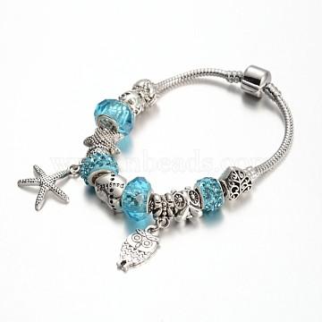 DeepSkyBlue Rhinestone Bracelets