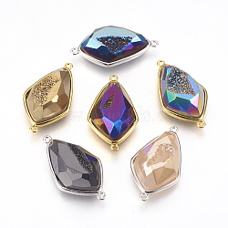 Mixed Color Mixed Color Rhombus Natural Agate Links(G-E493-D)