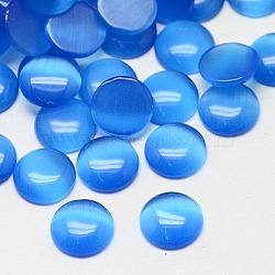 Кабошоны кошачьего глаза, полукруглый, темно-синие, 12x3 мм(CE-J002-12mm-09)