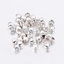 Tibetan Style Alloy Beads, Lead Free & Cadmium Free, Heart, Silver, 3x4x3mm, Hole: 1.2mm