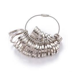 Calibreurs de bague, outil de mesure bijoux outils de dimensionnement, pour la fabrication d'anneaux de bricolage, platine, 12~23mm(TOOL-A007-A07)